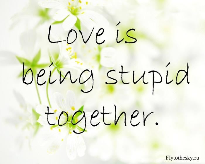 Статусы на англ про любовь