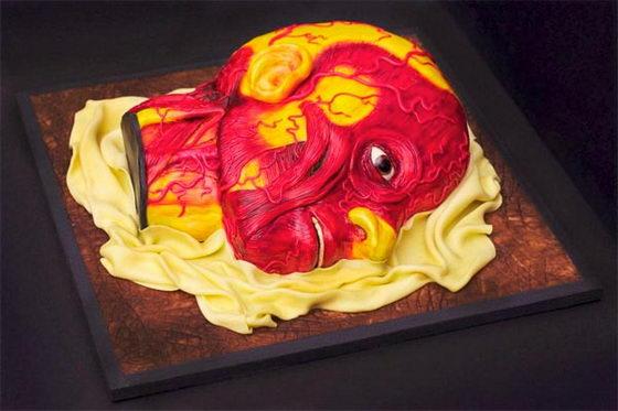 Торт в виде головы
