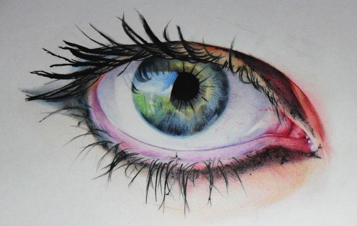 рисунки карандашами цветными: