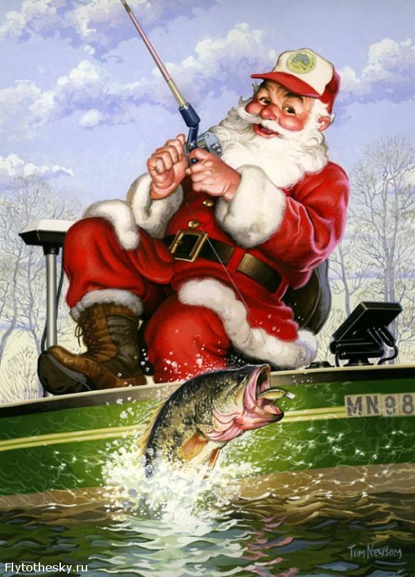 новогодние рыболовные открытки зуда один самых