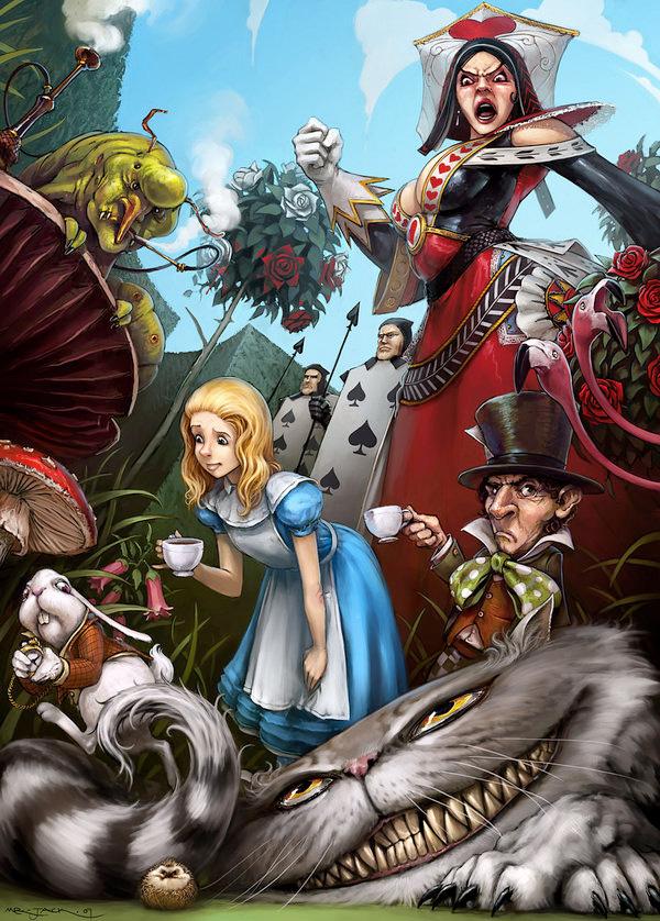 Алиса в стране чудес в картинках героях