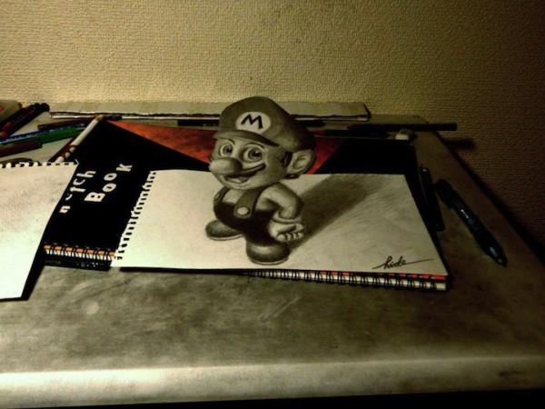 3D рисунки на бумаге от Нагаи Хидеюки | В мире интересного