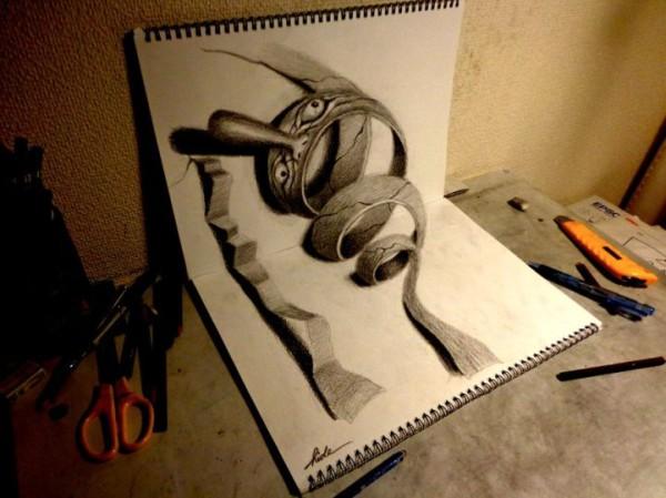 3D рисунки на бумаге от Нагаи Хидеюки - Официальный сайт ...