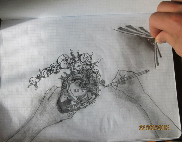 Черно белые рисунки карандашом 1