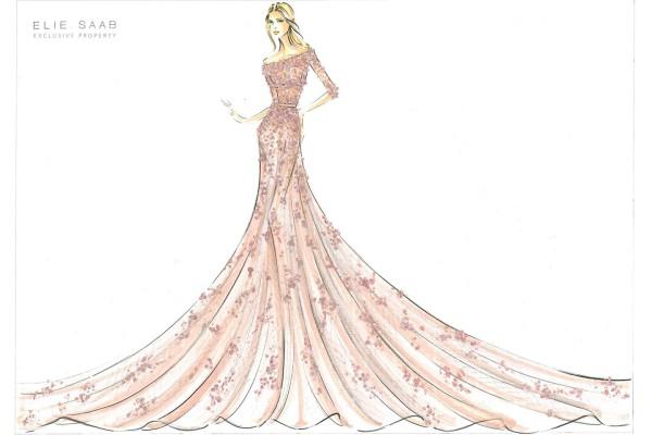 Рисунки платьев дизайнерские