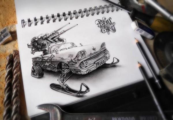 объемных карандашом фото рисунков