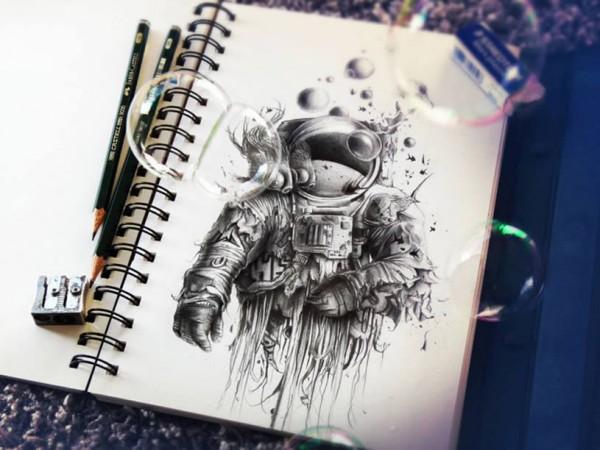 Объемные рисунки карандашом от