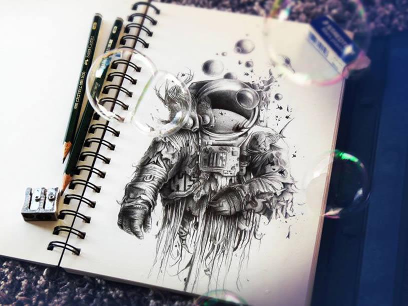 урок рисования в стиле футуризм карандашом