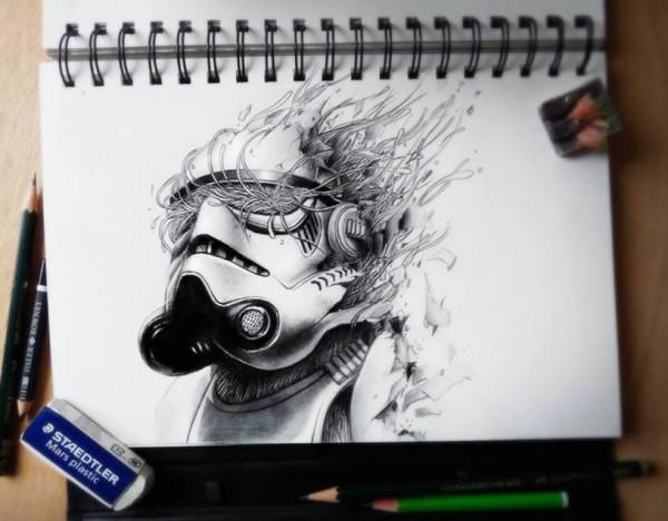 объемные карандашом рисунки