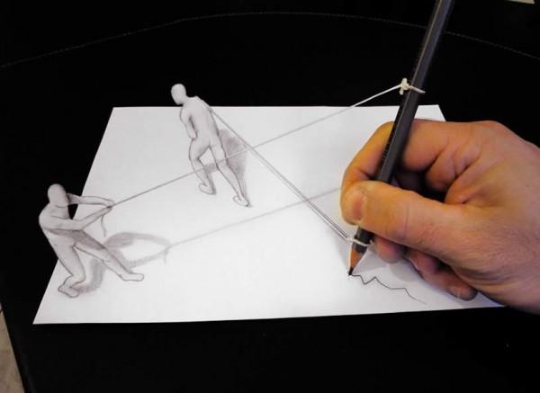 Иллюзии на бумаге своими руками