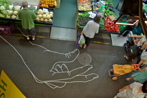 Австралийский уличный художник буфф