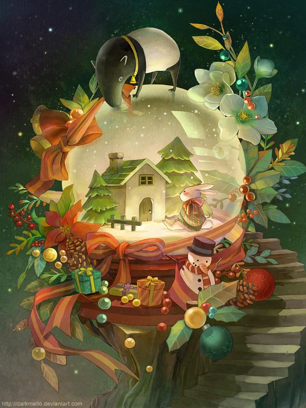 новогодние иллюстрации (9)