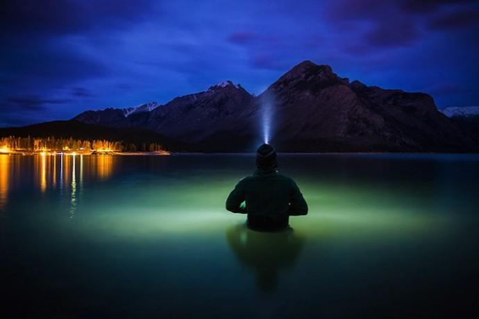 Селфи на фоне канадских Скалистых горах (2)