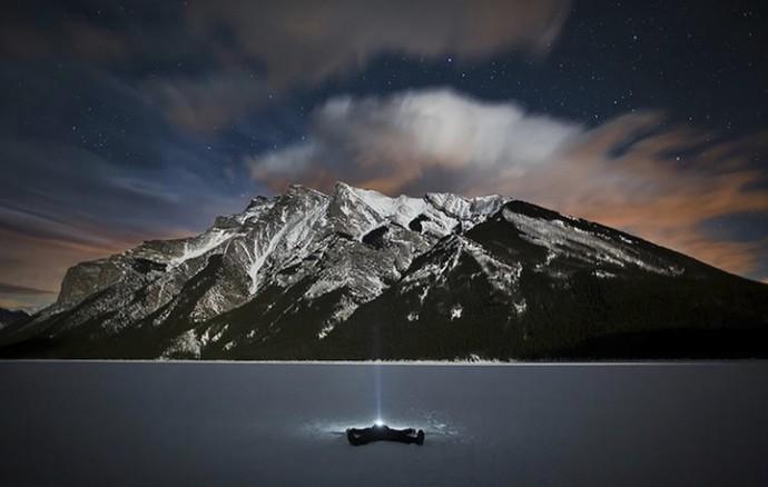 Селфи на фоне канадских Скалистых горах (1)