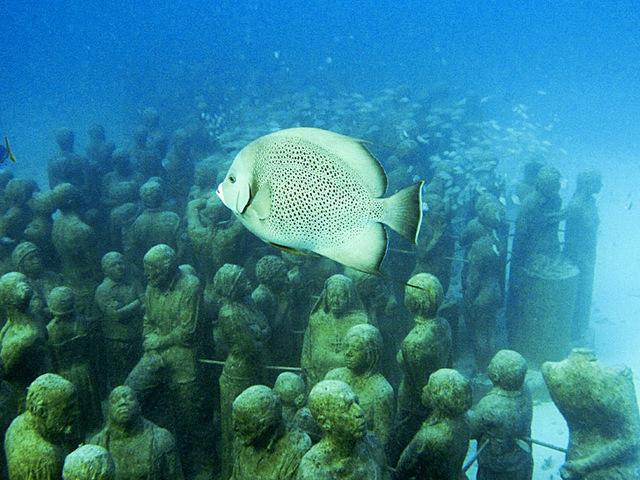 Подводный музей в мексике 2