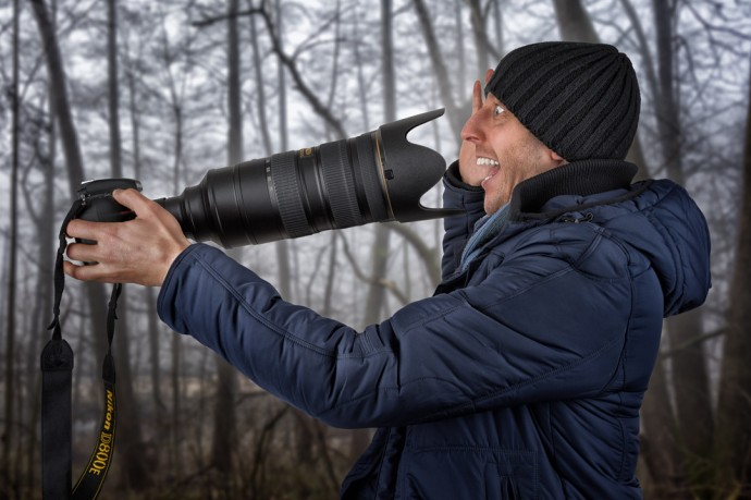 The wildlife photographer's selfie