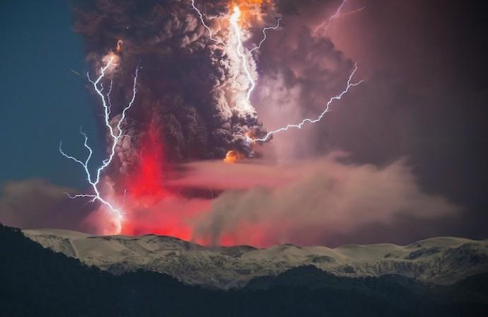 извержение вулкана в Чили (4)