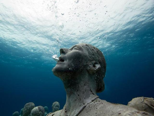 Подводный музей в мексике в мире