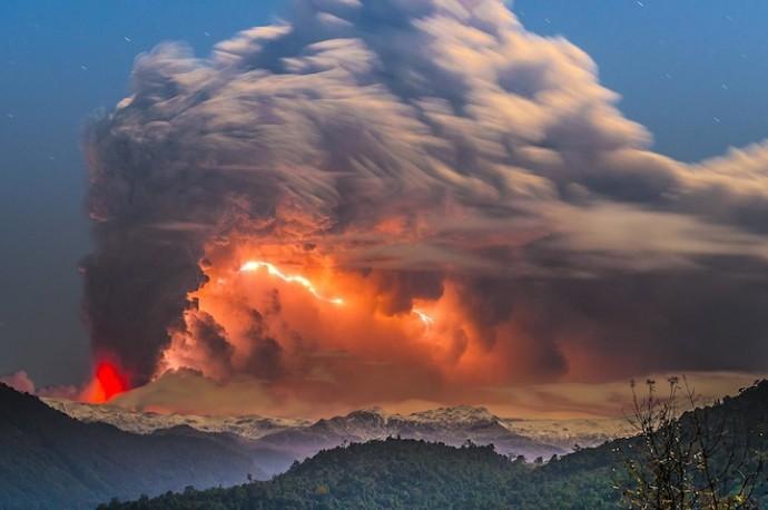 извержение вулкана в Чили (2)