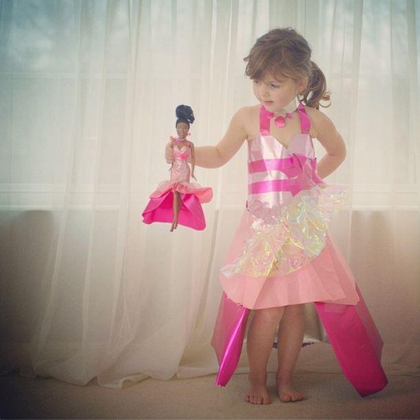 Платье на девочку из бумаги своими руками