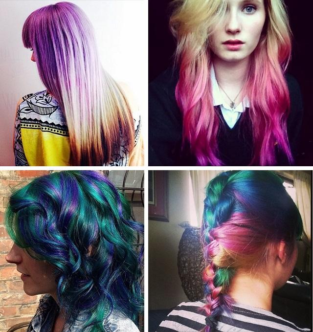 Цвет волос морская волна