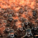 Фото дня: Подготовка китайских солдат при минусовой температуре