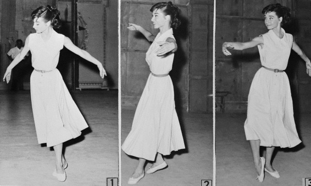Sequence of Audrey Hepburn Dancing the Gavotte