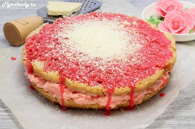 Торт с фруктами внутри фото 1