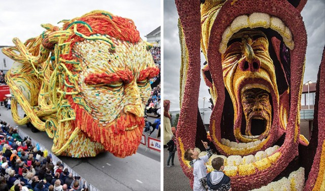 Самый большой цветочный парад в мире. ФОТО