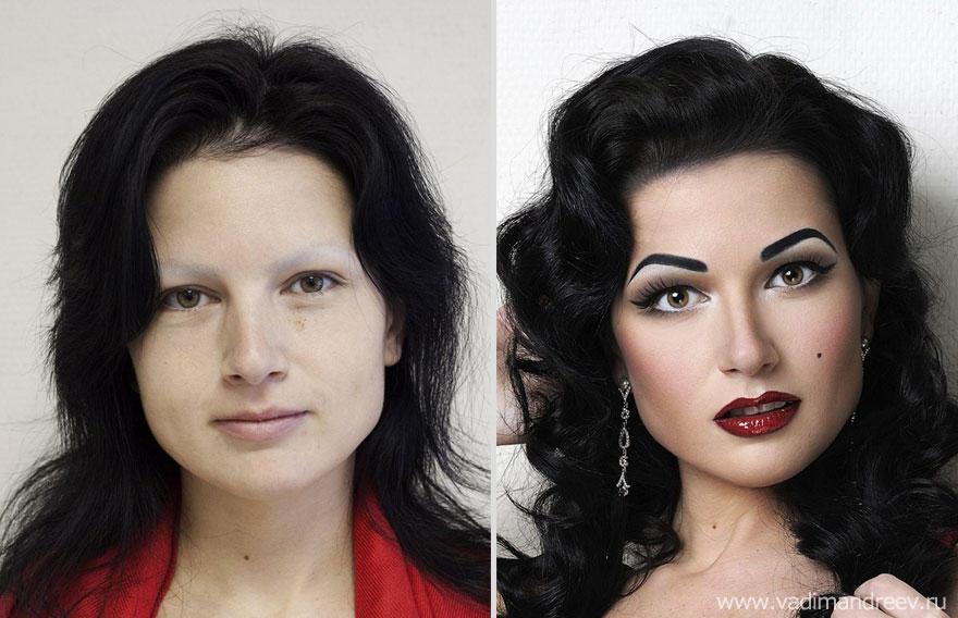 Перевоплощение макияж