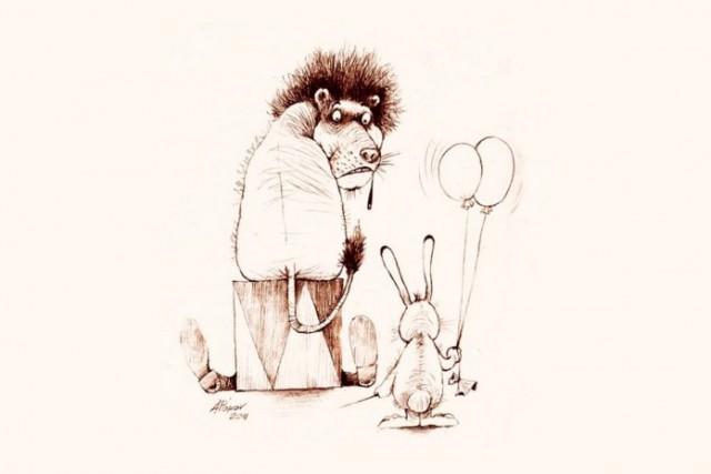 Почему тема диссертации совершенно не важна В мире интересного Сидит под дубом заяц что то пишет К нему подходит лиса Эй заяц что делаешь Да вот говорит диссертацию пишу Про то как зайцы лис едят