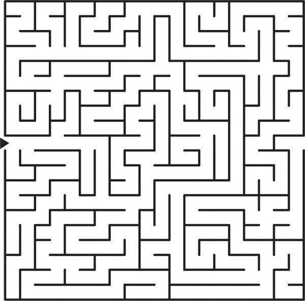 Только самые внимательные найдут выход из этого лабиринта за 10 секунд