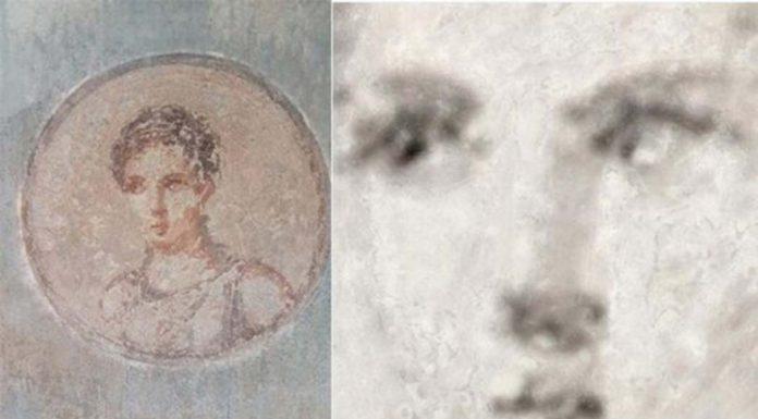 Рентгеновская техника обнаружила изумительный римский портрет, скрытый под пеплом Везувия