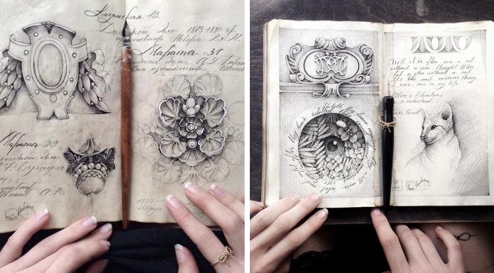 Художница из России и её мистические рисунки с визуальными секретами