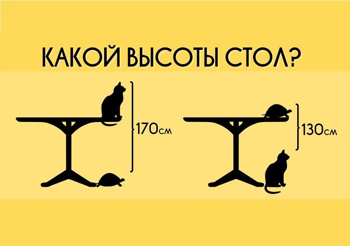 Какой высоты стол